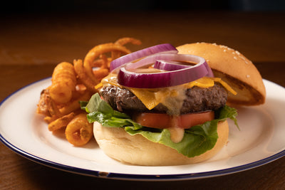 Black Angus Double Cheese Burger | Broadway American Diner