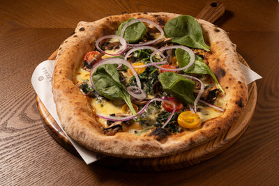 Pizza Mushroon and Spinach | La Scala Ristorante