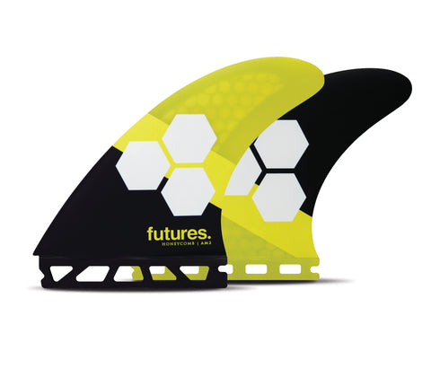 AM2 Honeycomb, Balanced, Large Thruster Surfboard Fins