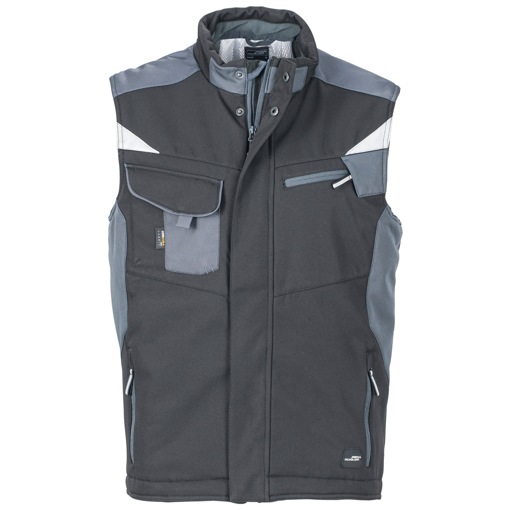 JAMES & NICHOLSON – JN 825 Herren Winter Softshell Gilet (7 Farben)