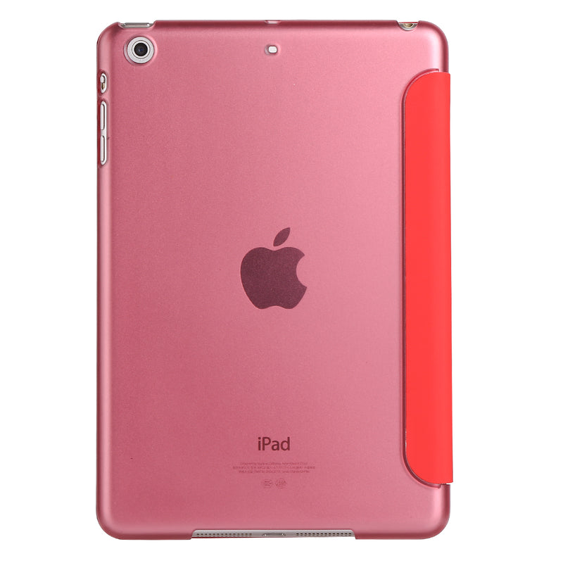"iPad 2/3/4 9.7"" Smart Cover with Sleep Mode Clear Back Red"