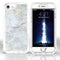 iPhone 8/7/6 Plus Heavy Duty Marble Case Silver