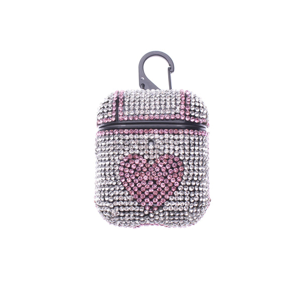 Rose Heart Glitter TPU AirPods case