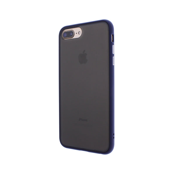 Blue TPU Frame White Button Soft Texture iPhone 6/7/8 Plus