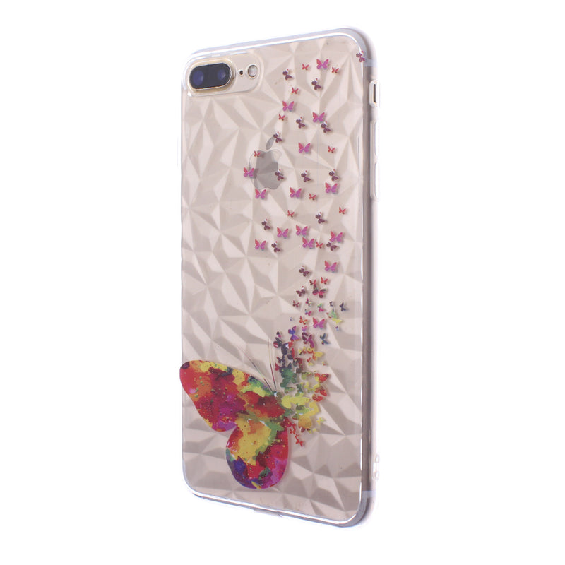 iPhone 8/7 Design TPU Butterfly Peach
