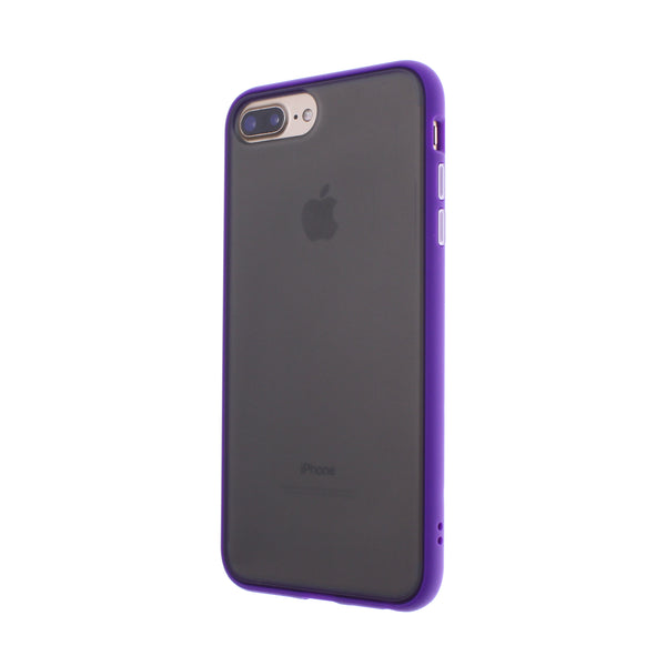 Purple TPU Frame White Button Soft Texture iPhone 6/7/8 Plus