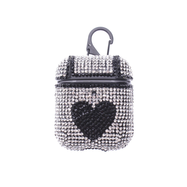 Black Heart Glitter TPU AirPods case