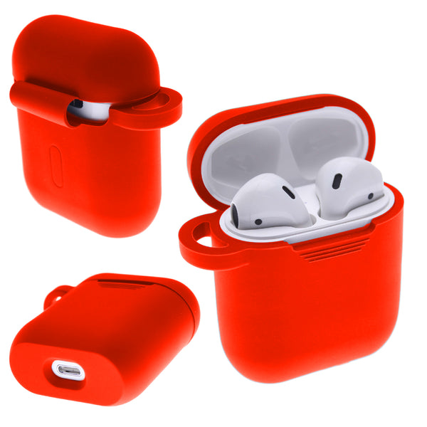Red PLAIN COLOR AirPods Case