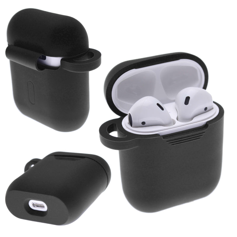 Black PLAIN COLOR AirPods Case