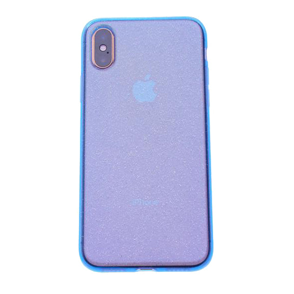 Blue Silicone Glitter iPhone XS Max
