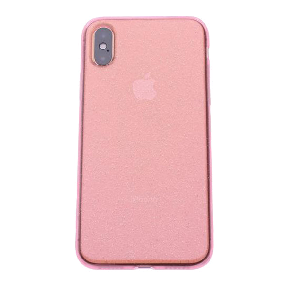 Pink Silicone Glitter iPhone X/XS