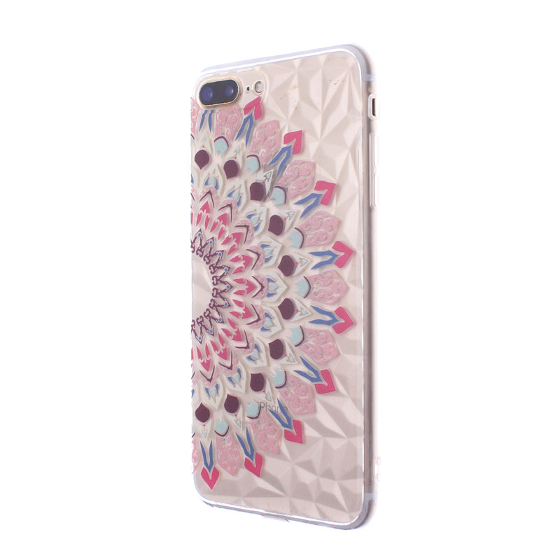iPhone 8/7 Plus Design TPU Mandala Pink