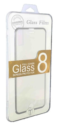 iPhone 8/7 Plus Tempered Glass Metal Frame Silver