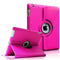 "Hot Pink iPad 2/3/4 9.7"" PU Leather Folio 360 Case"