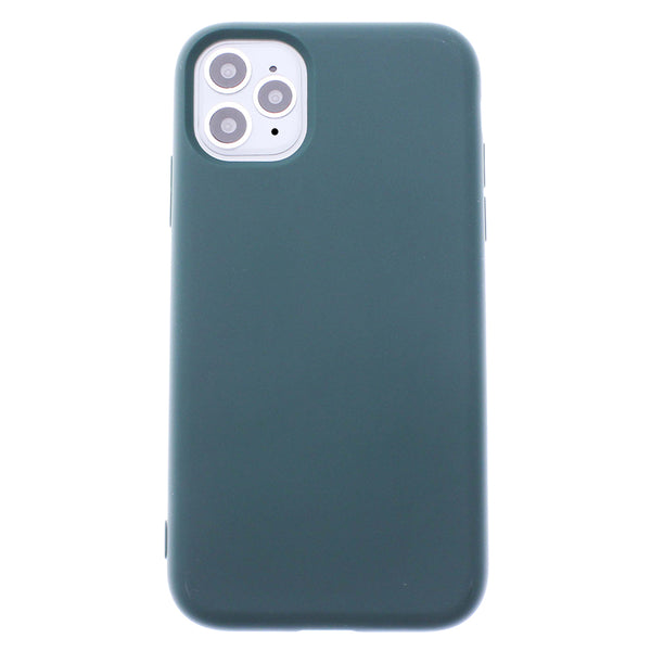 Green iPhone 11 Pro MAX Soft Silicone TPU Case