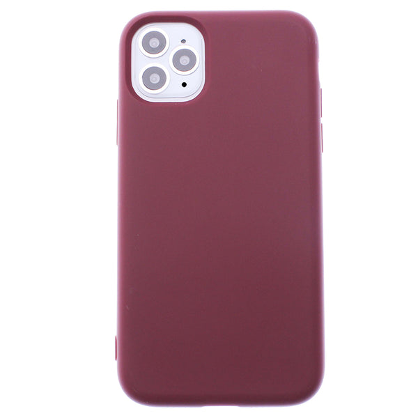 Wine iPhone 11 Pro MAXSoft Silicone TPU Case