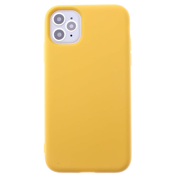 Yellow iPhone 11 Pro MAX Soft Silicone TPU Case
