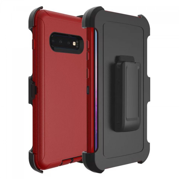 Samsung Galaxy S10 Heavy Duty Case Red