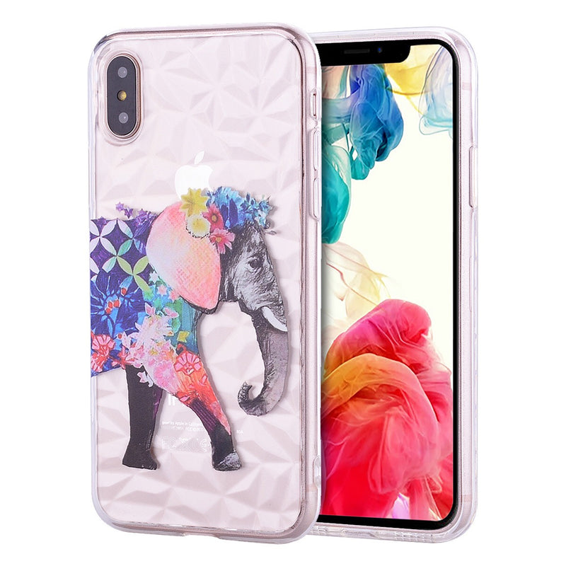 iPhone X/XS Design TPU Happy Elephant
