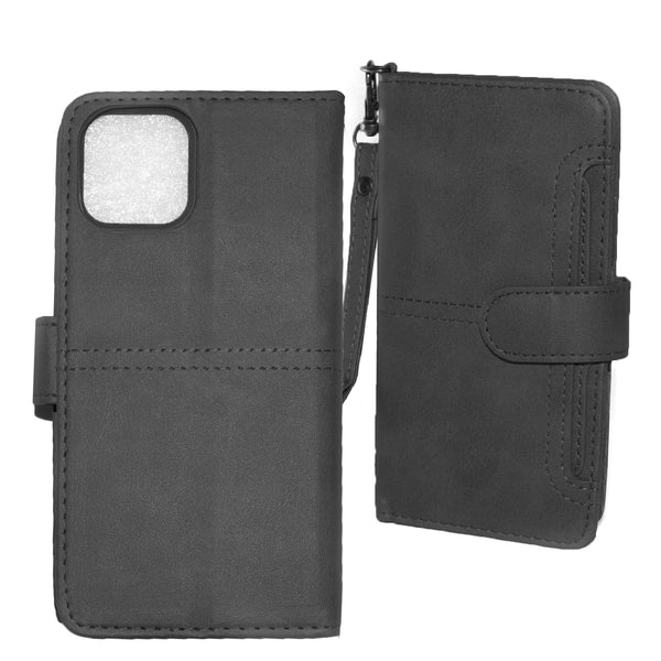 Black iPhone 11 PRO Folio Wallet Premium Detachable case