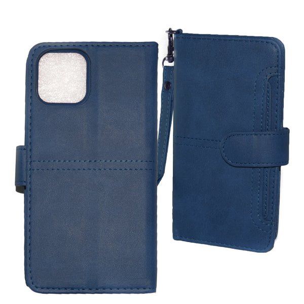 Navy iPhone 11 PRO MAX Folio Wallet Premium Detachable case