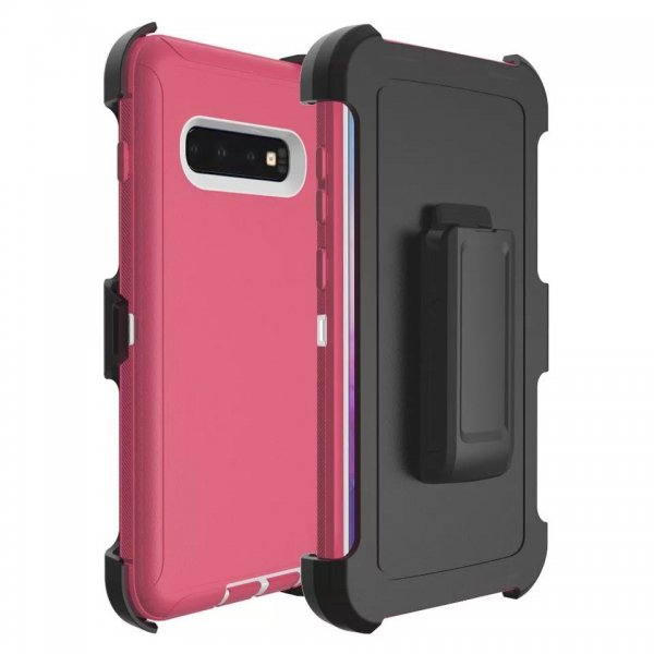 Samsung Galaxy S10 Heavy Duty Case Pink