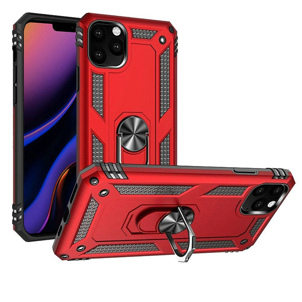 Red iPhone 11 PRO Magnetic Ring Slim Shockproof PC TPU Hybrid