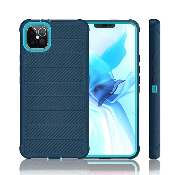 iPhone 12 Pro Max 6.7 Ultimate Tough Armor Hybrid Case Cover - Blue