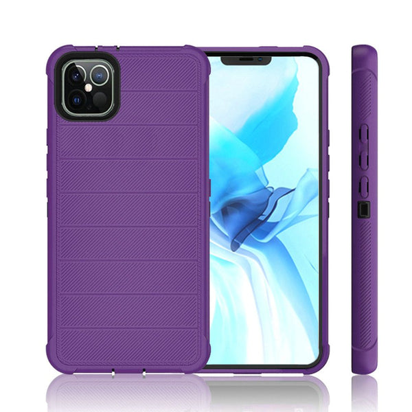 iPhone 12 Pro Max 6.7 Ultimate Tough Armor Hybrid Case Cover - Dark Purple