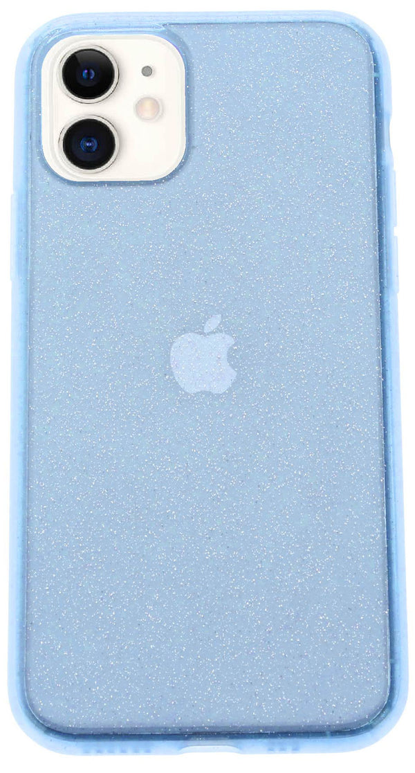 Blue Silicone Glitter iPhone 11