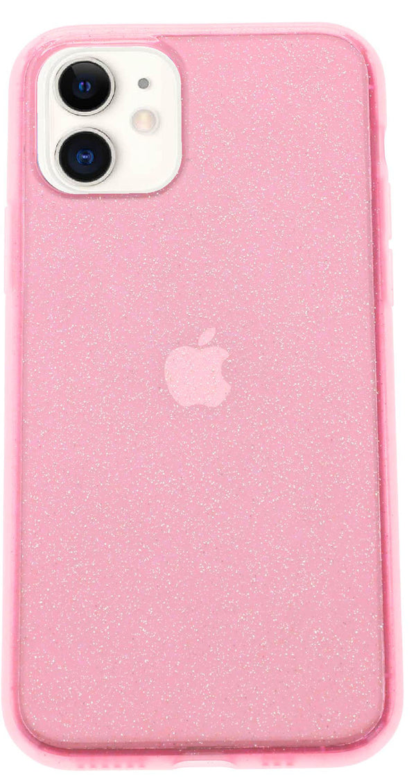 Pink Silicone Glitter iPhone 11