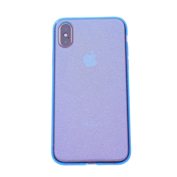 Blue Silicone Glitter iPhone X/XS