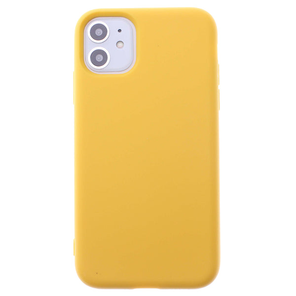 Yellow iPhone 11 Soft Silicone TPU Case