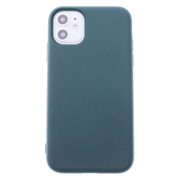 Green iPhone 11 Soft Silicone TPU Case