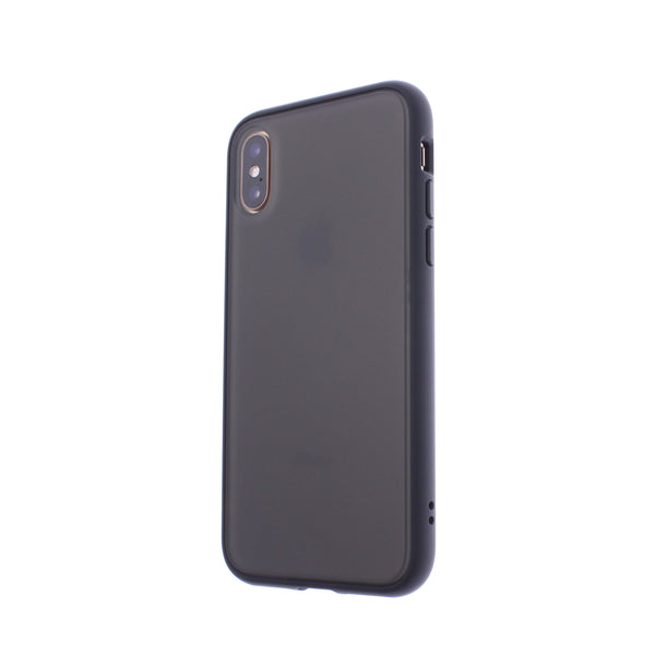 Black TPU Frame Black Button Soft Texture iPhone X/XS