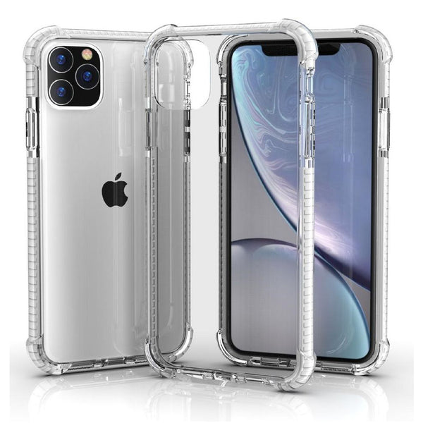 White iPhone 11 PRO TPU Bumper Ultra Clear Back TPU Shockproof