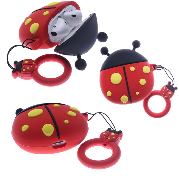 Air Pod 3D Silicone Case Cover LADY BUG