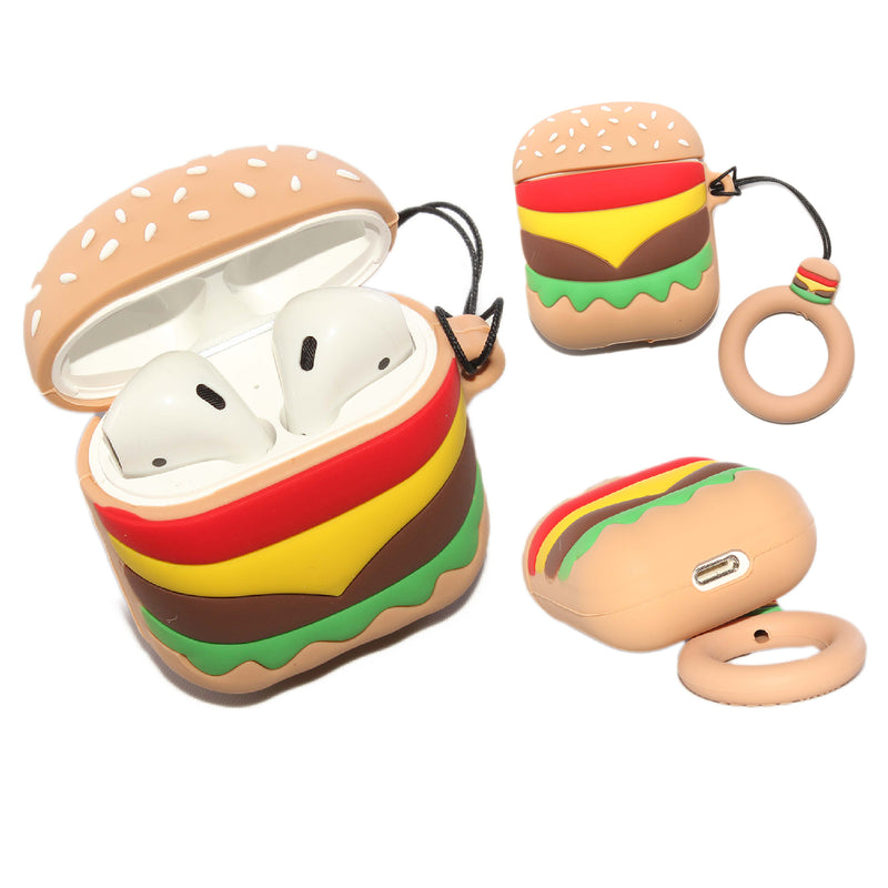 Air Pod 3D Silicone Case Hamburger