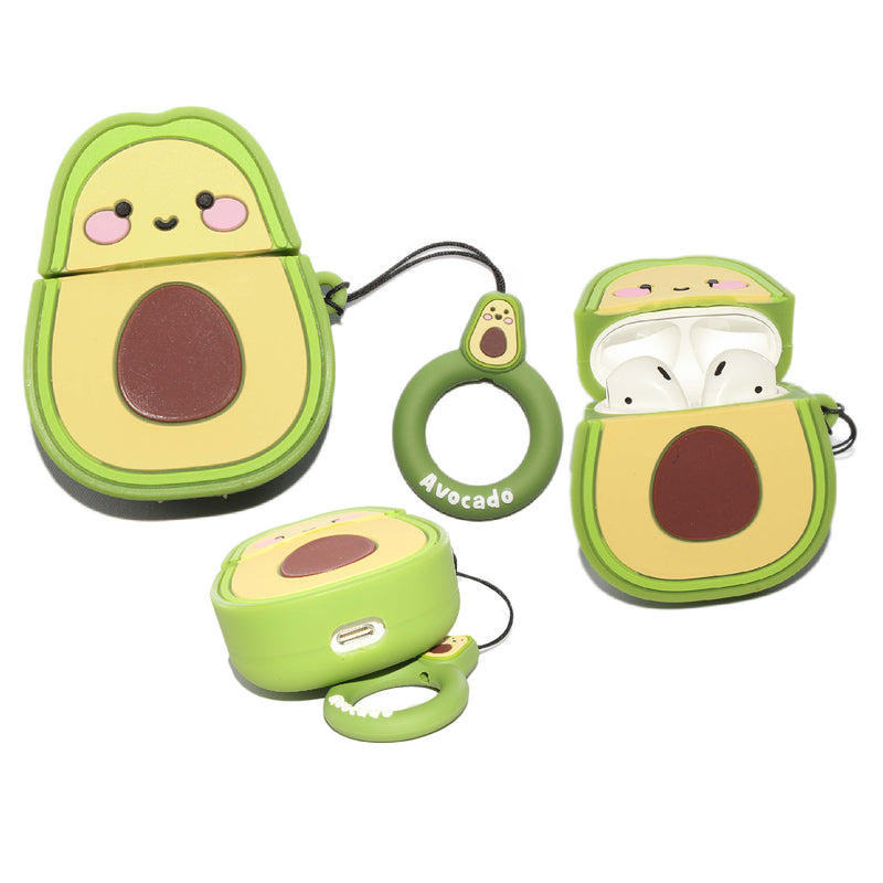 Air Pod 3D Silicone Case AVOCADO