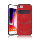 iPhone 8/7 Jeans Case With PocketRed