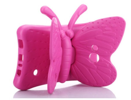 "iSpongy Shock Proof Eva Case Universal Butterfly 7"" Pink"