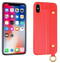 iPhone XR Leather TPU With Strap Holder and Ring Red