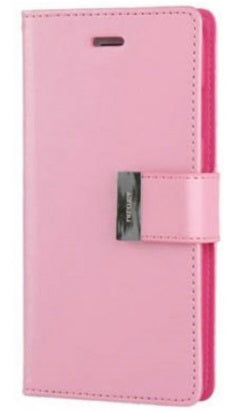 Samsung Galaxy S10 Lux Multi Card Wallet With Strap Pink
