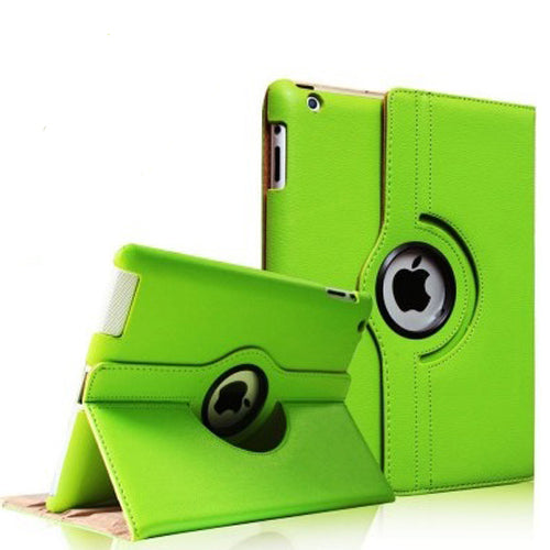 "Green iPad Air 1 / Air 2 / Pro 9.7"" / iPad 9.7"" (2017/2018) PU Leather Folio Folding 360 Case With Rubber Touch Pen Holder"