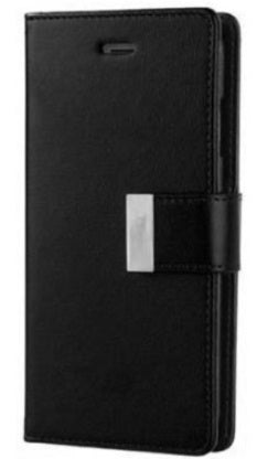 Samsung Galaxy S10 Lux Multi Card Wallet With Strap Black