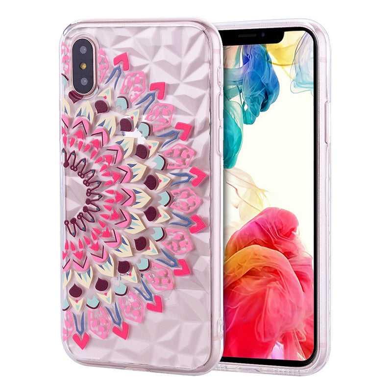 iPhone X/XS Design TPU Mandala Pink