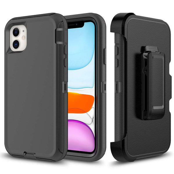Black iPhone 11 Heavy Duty Case