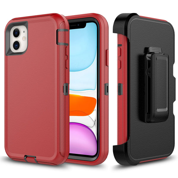 Red Black iPhone 11 Pro MAX Heavy Duty Case