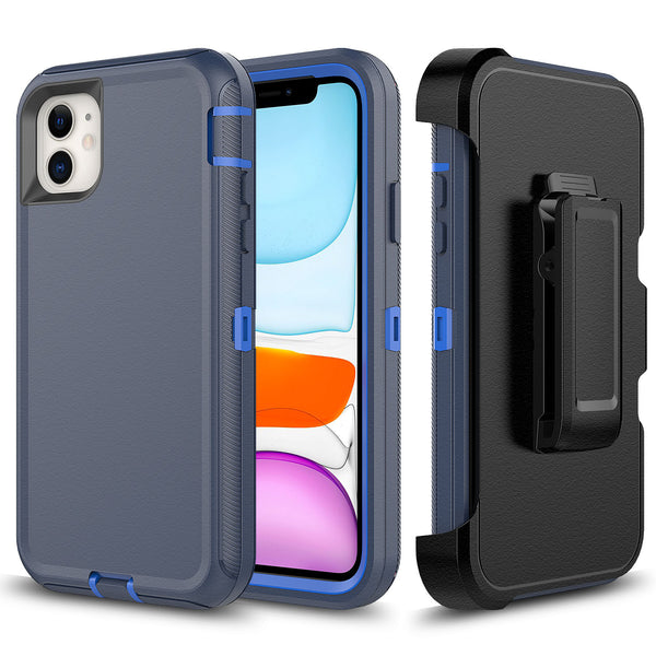 Navy Blue iPhone 11 Heavy Duty Case
