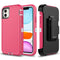 Pink White iPhone 11 Heavy Duty Case